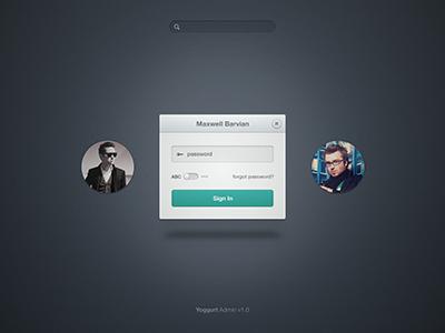 Admin Login Web Design Form Design Login Form