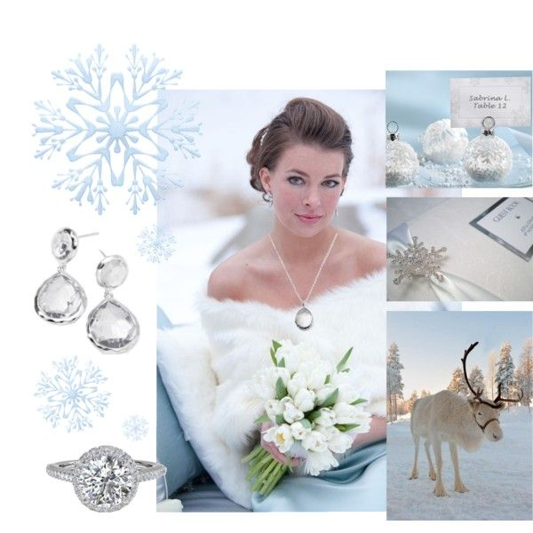 """winter wedding"" by finksjewelers on Polyvore"