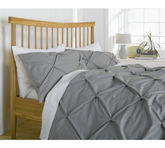 Heart Of House Hadley Pintuck Bedding, Grey King Size Bedding Argos
