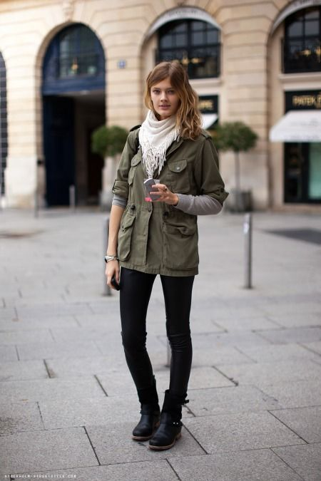 Love This Look But With My JCrew Waxed Utility Jacket