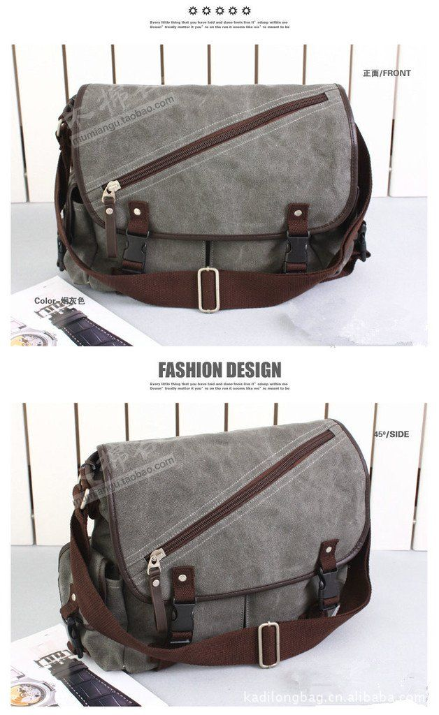 Free shipping New Arrival Korean Men's Canvas Bag Fashion One Shoulder Causal Bag Big Capacity School Bag(Black+Gray)121020#3-in Shoulder Bags from Luggage & Bags on Aliexpress.com