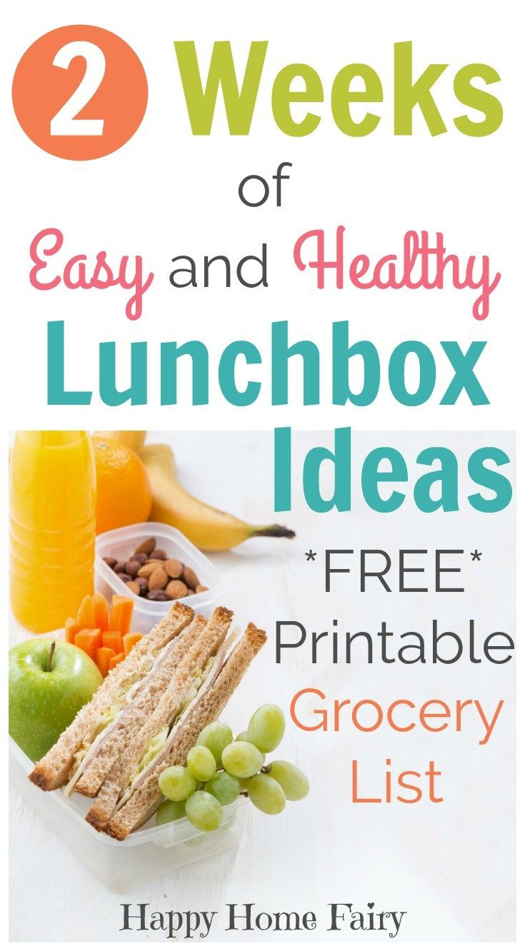 2 Weeks of Easy and Healthy Lunchbox Ideas | Healthy lunchbox ideas ...