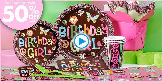 Hippie Chick Birthday Party Supplies