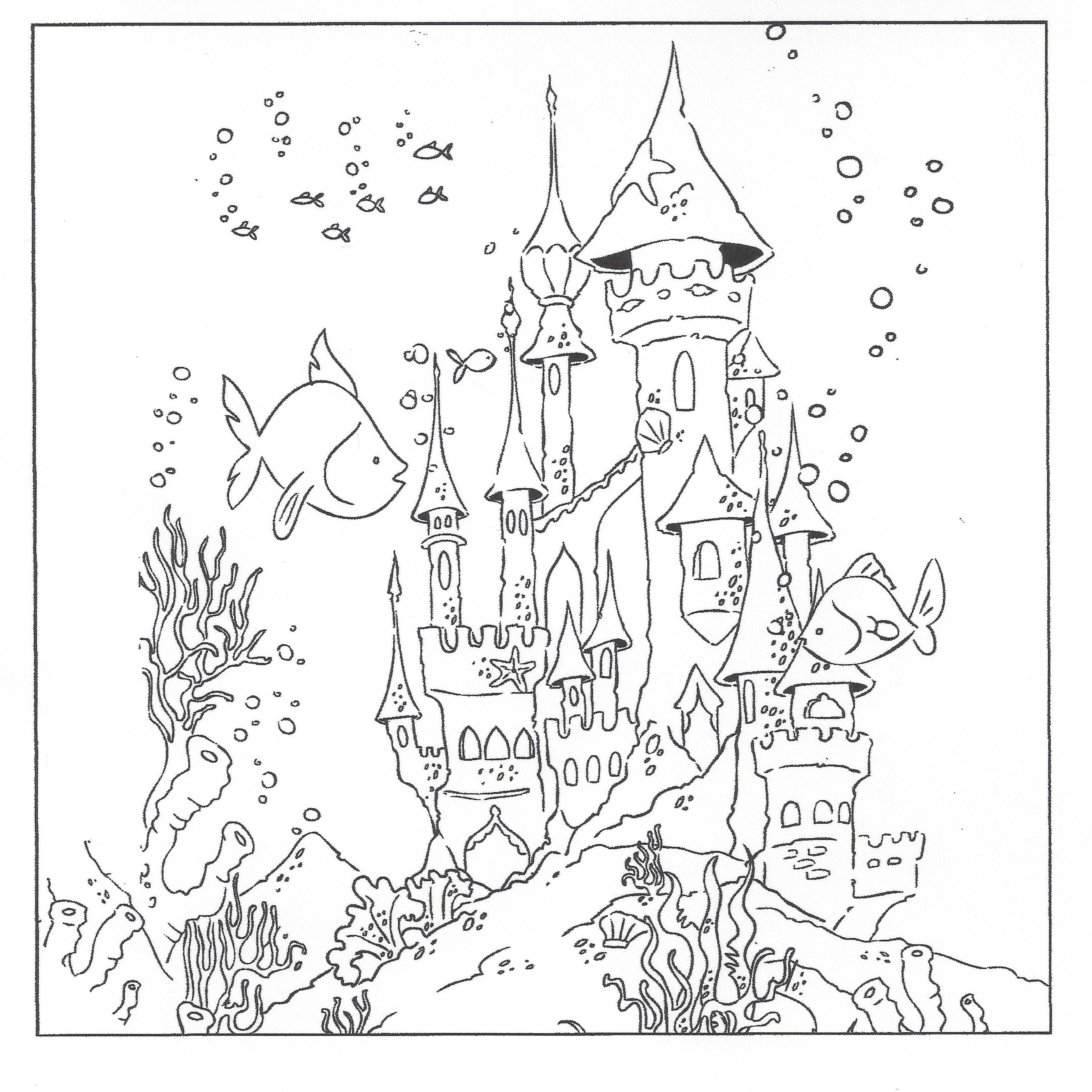 underwater  Castle coloring page, Ocean coloring pages, Coloring