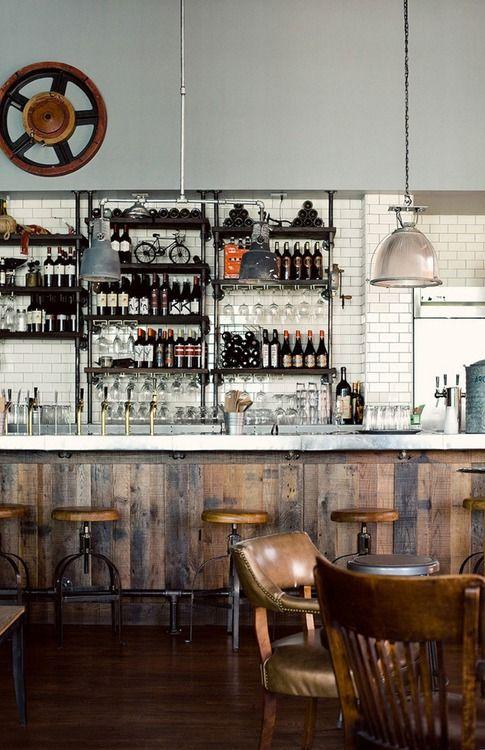 Rustikale Bar pin droste auf bar theken und inneneinrichtung