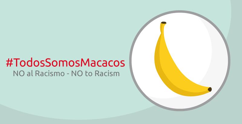 Banana para una causa #NotToRacism #todossomosmacacos
