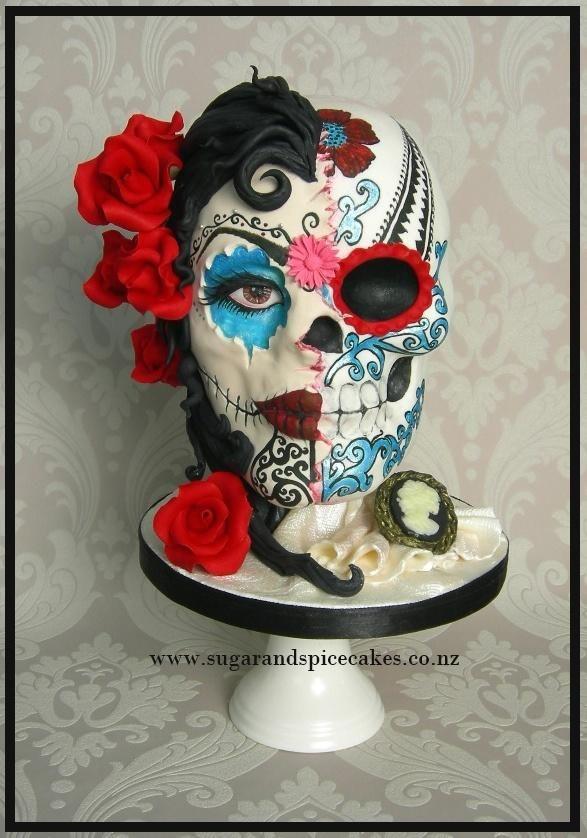 Maya Dia De Los Muertos Sugar Skull Bakers 2014 Cake