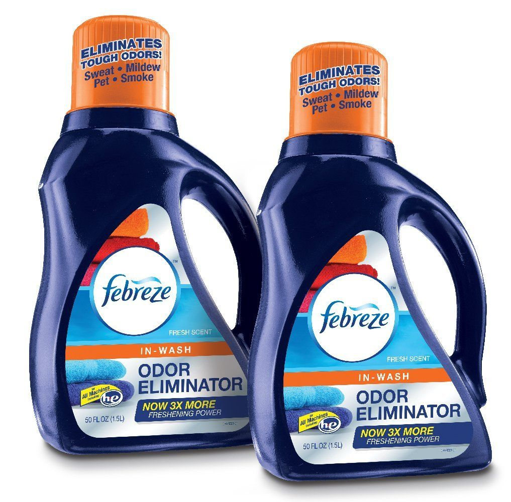 Febreze In Wash Laundry Odor Eliminator Detergent Fresh Scent 50