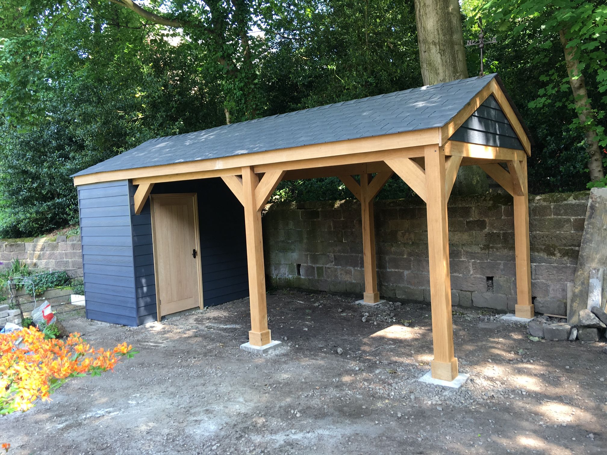 Pin By Karen On Driveway Wooden Carports House With Porch Carport Designs