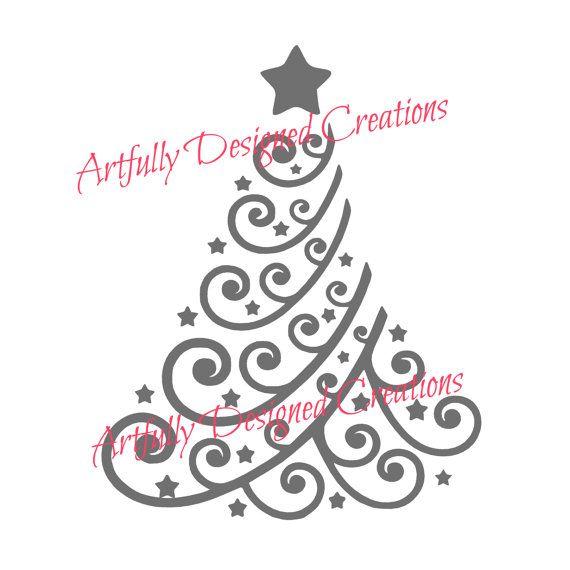 Christmas Tree Stencil   Árbol navidad, Navidad y Decoración
