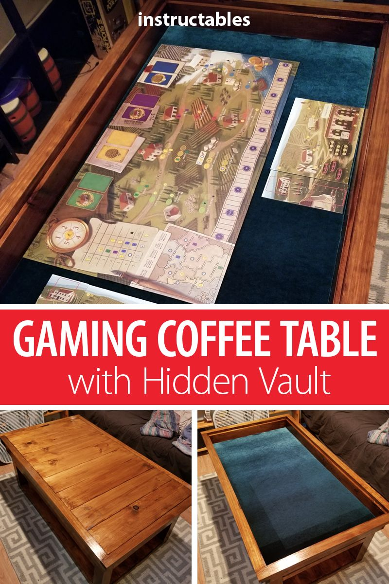 Gaming Coffee Table With Hidden Vault Woodworking Furniture