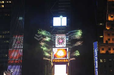 Toshiba Vision for New Year at Times Square