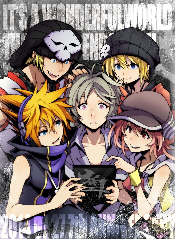 The world ends with you fan art anniversary | Anime Visionary ...