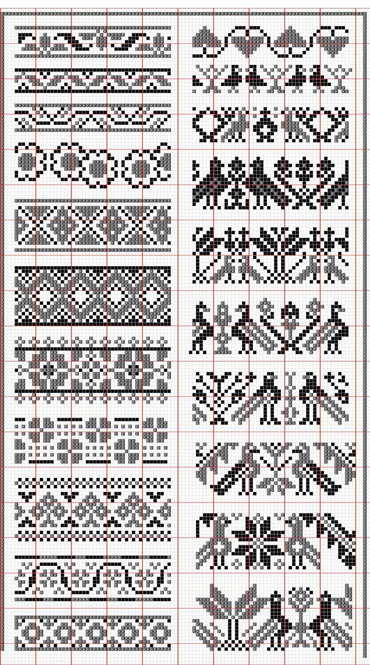 Pin de Алла en Схемы.Узоры.Жакард | Pinterest | Bordado, Puntos y Croché