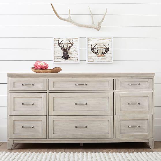 Hampton 9 Drawer Wide Dresser Bedroom Furniture Dresser Master