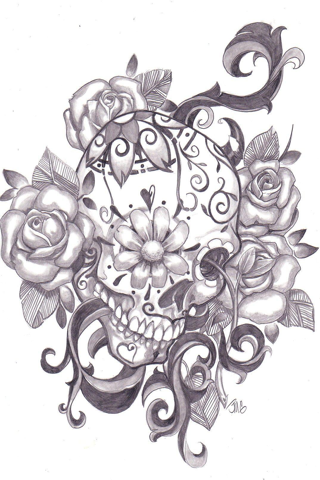 Day of the Dead, dia de los muertos, Sugar Skull, Coloring pages ...