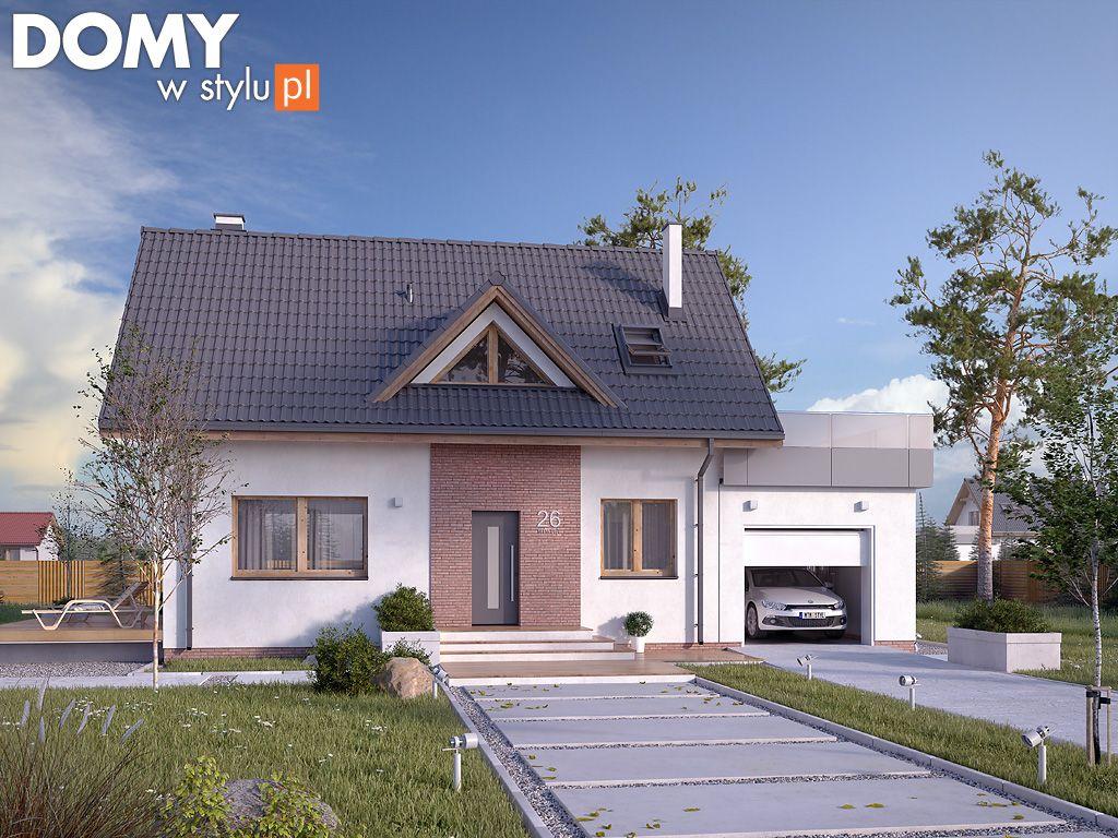 Projekt domu z poddaszem i garażem - BEZ 2. Pełna prezentacja projektu dostępna jest na stronie: https://www.domywstylu.pl/projekt-domu-bez_2.php #projektydomów #projektydomow #projektygotowe #projektdomu #domyparterowe #domydrewniane #house #home #homeproject #homedesign #architektura #architecture #design #domywstylu #mtmstyl