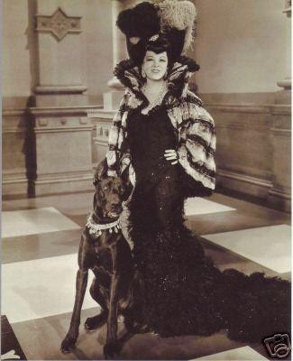 Mae West Poses With A Great Dane Mae West Elsa Schiaparelli