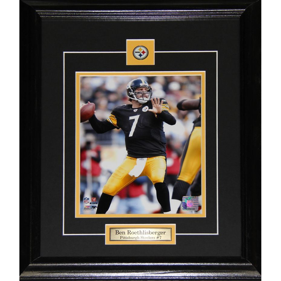 shop for ben roethlisberger pittsburgh steelers frame get free shipping at your online collectibles outlet store get in rewards with club o