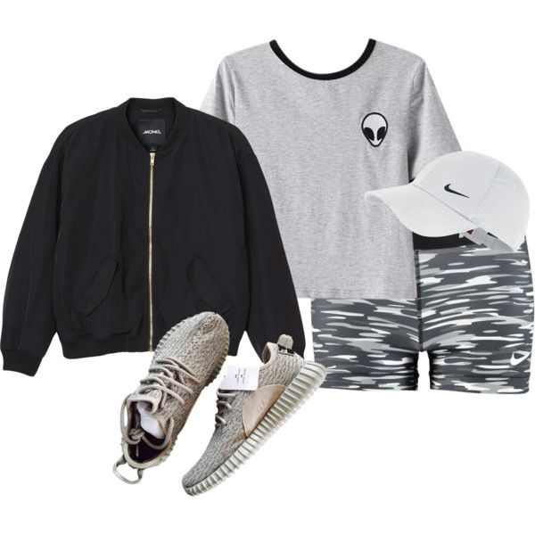M by butnotperfect on Polyvore featuring Chicnova Fashion, Monki and NIKE