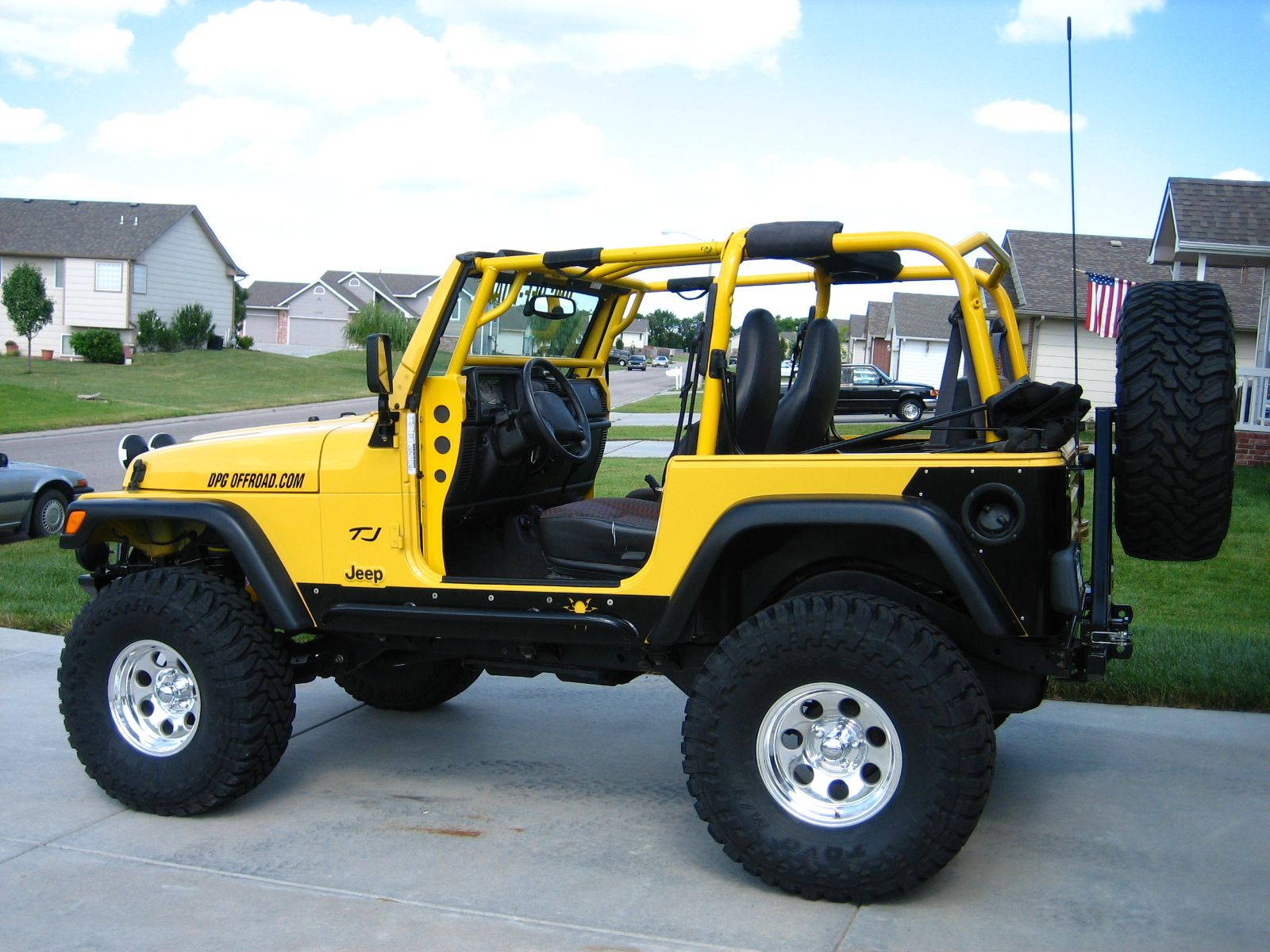 Jeeps July 05 With Cage Installed Yellow Jeep Wrangler