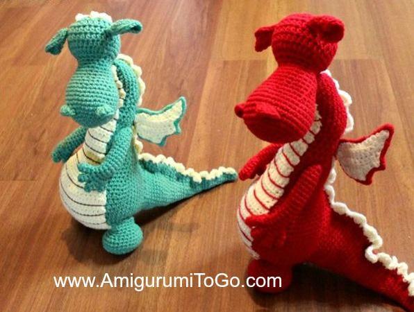 Amigurumi Monster Anleitung Kostenlos : Amigurumi to go: fierce or sleepy dragon pattern part one free