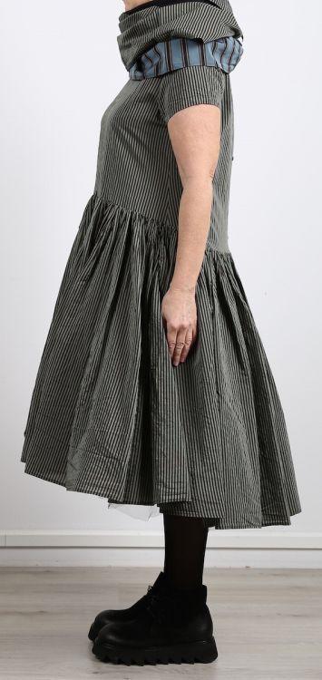 rundholz - Kleid Cotton Seide olive stripe - Sommer 2017 ...