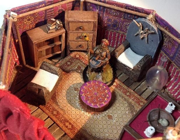 Alabastero: Tent of the Fortune Teller, inside view. Click