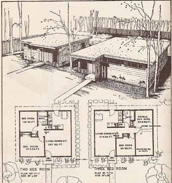 1954 MID CENTURY MODERN House Construction Details Burbank Book Building  Plans
