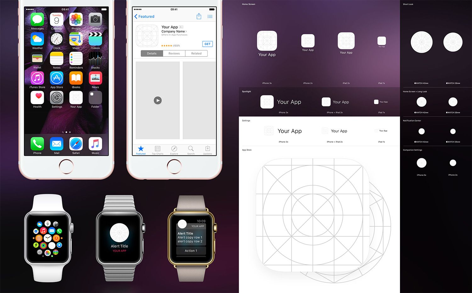 iOS 9 App Icon Template PSD #WebsiteTemplates #AppDesign #Mockups ...