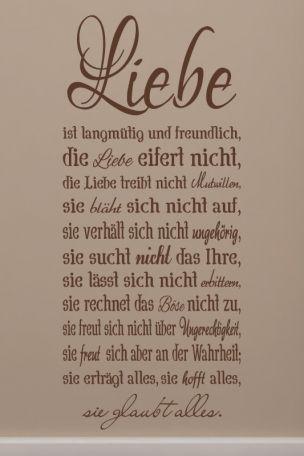 Liebe ist langmütig zitat die Die liebe