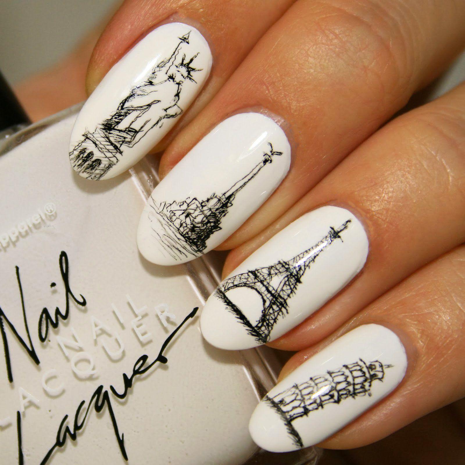 15 Increíbles diseños para decorar tus uñas inspirados en París. Te ...