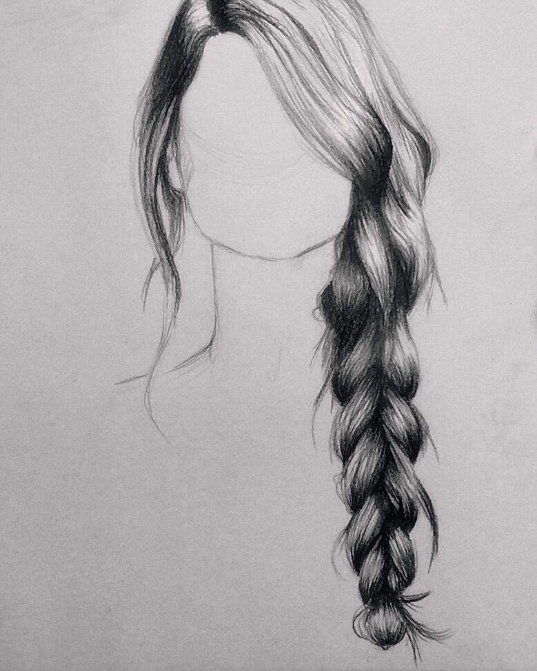 How to draw hair with pencil drawing tips