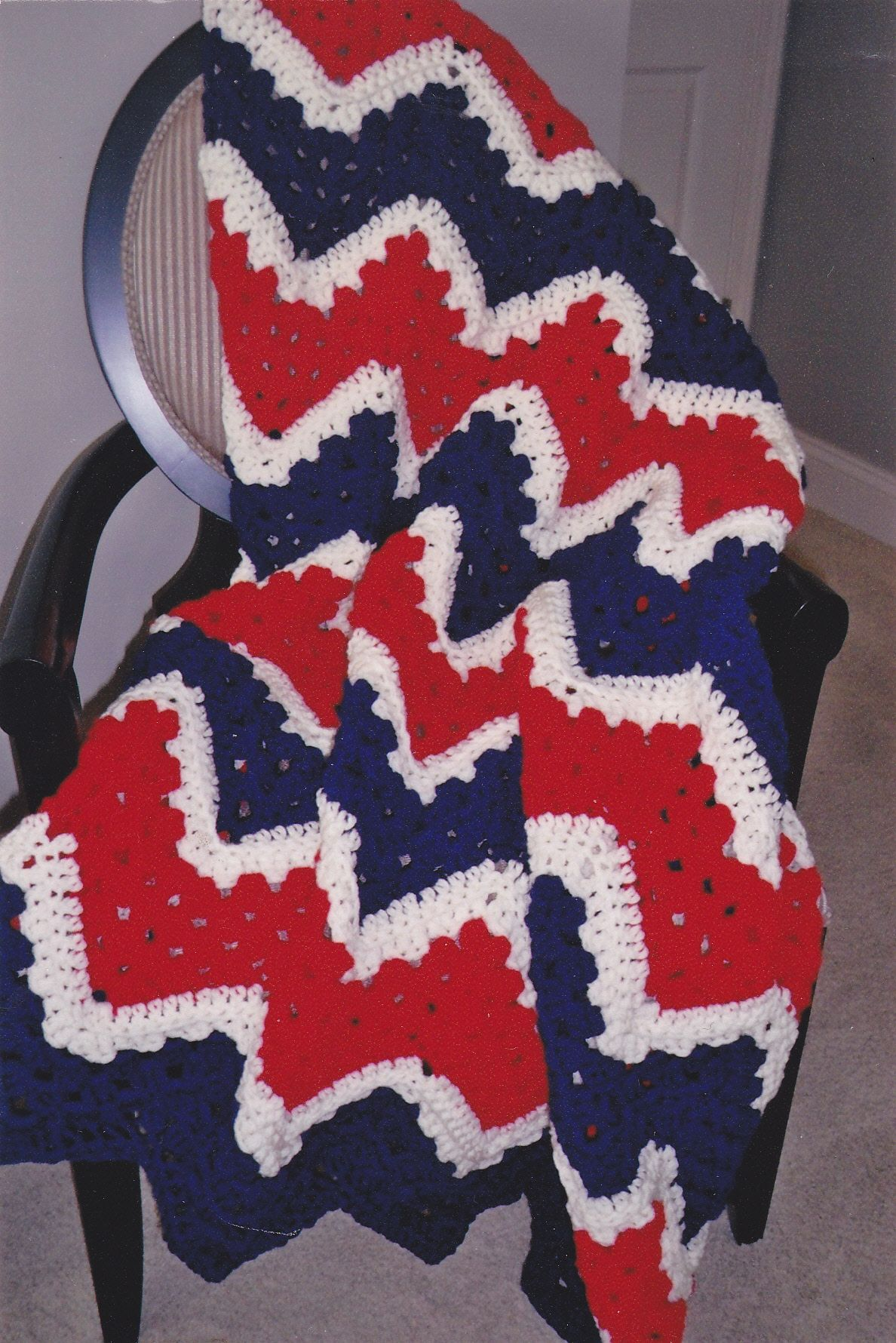 Crocheted all-American afghan Crochet American..The Red ...