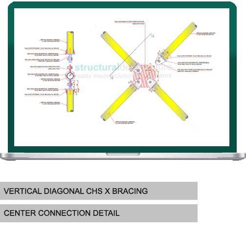 Vertical Diagonal CHS X Bracing Center Connection ...
