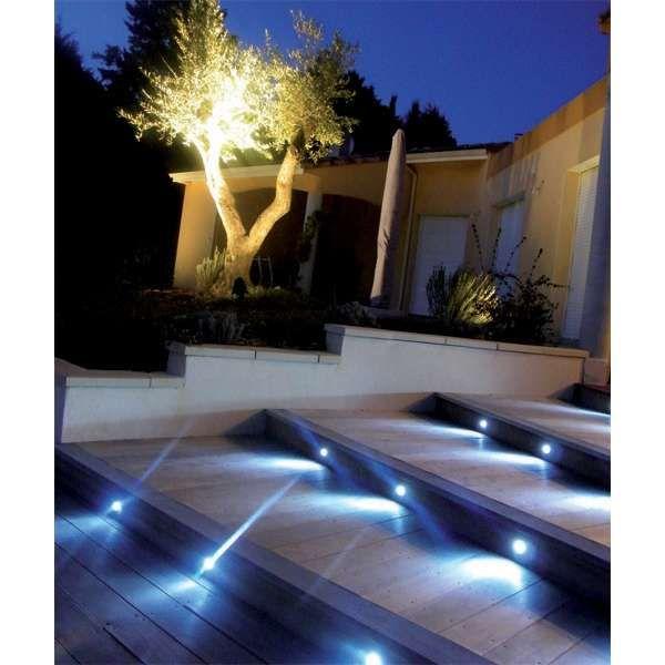 6 Mini Spots Bleues A Encastrer Piscine Et Jardin Escalier Exterieur Amenagement Terrasse