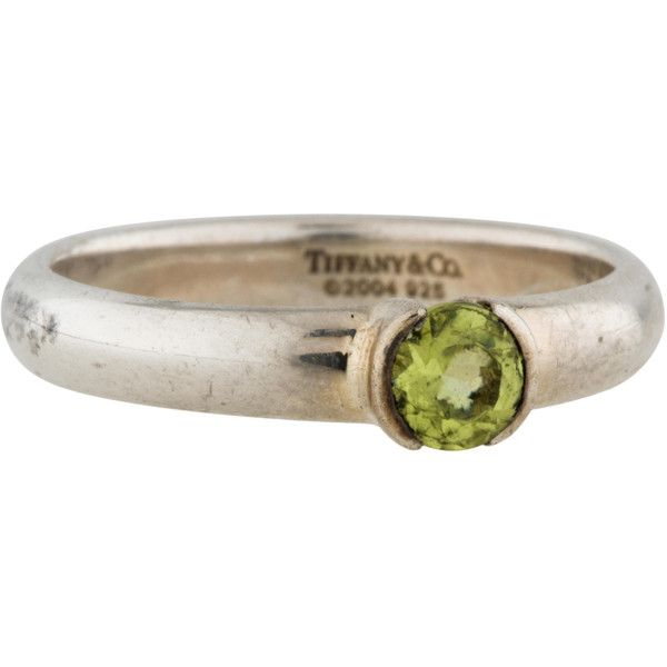 d46562461 Peridot Stack Ring ($245) ❤ liked on Polyvore featuring jewelry, rings,  peridot jewellery, tiffany co rings, peridot stackable ring, stacking rings  jewelry ...