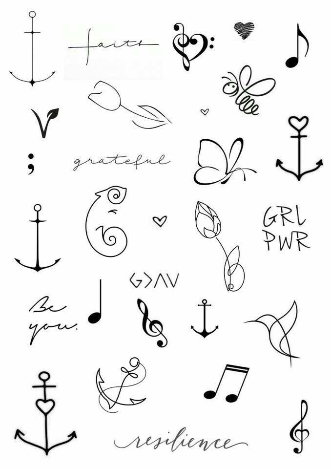 Pin De Martii Andrade Pincheira En Little Tattoo Ideas Pinterest - Dibujos-de-tatuajes-pequeos