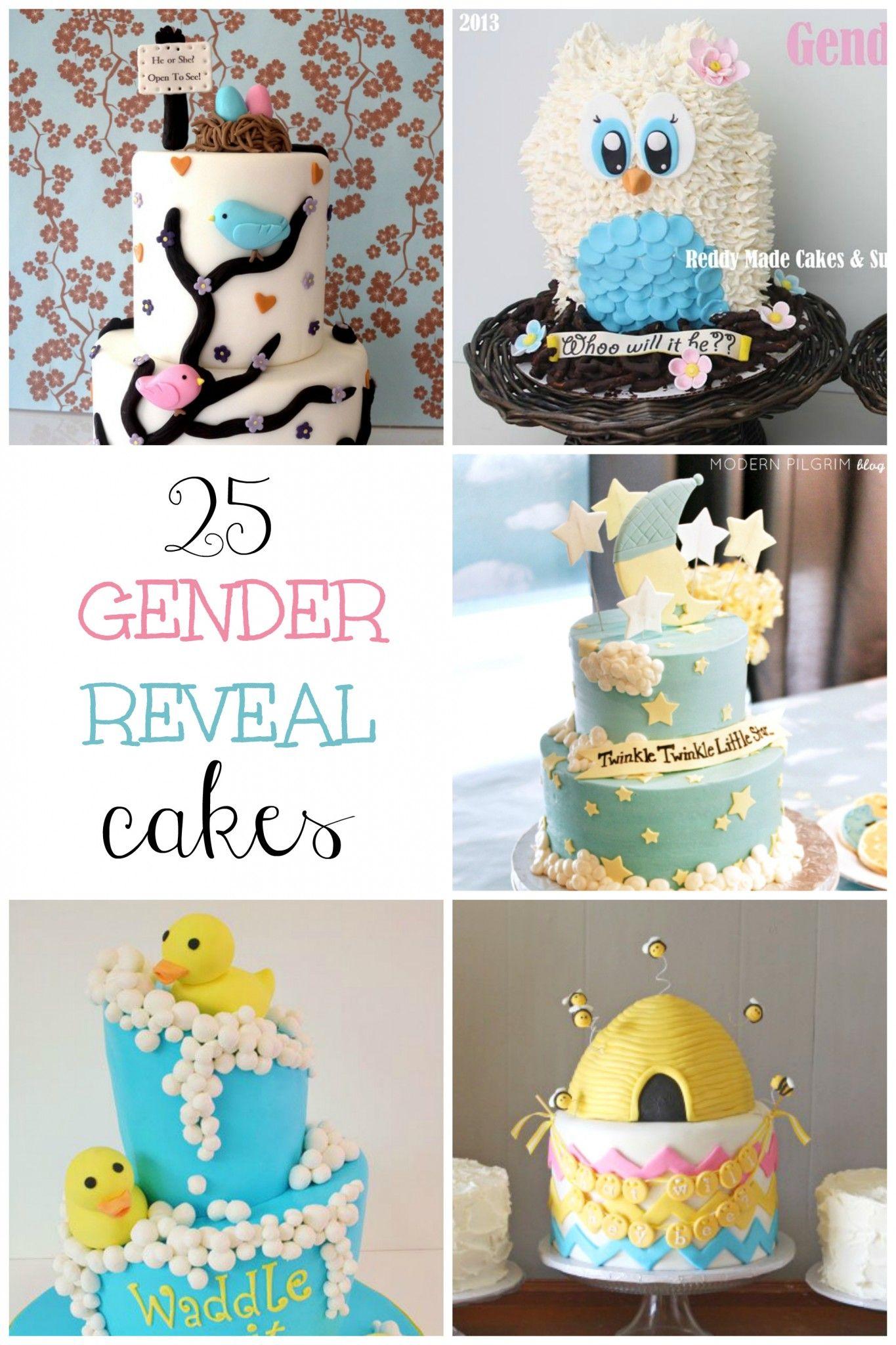 Gender Reveal Cakes The Newlywed Pilgrimage Gender Reveal Cake Baby Reveal Cakes Gender Reveal