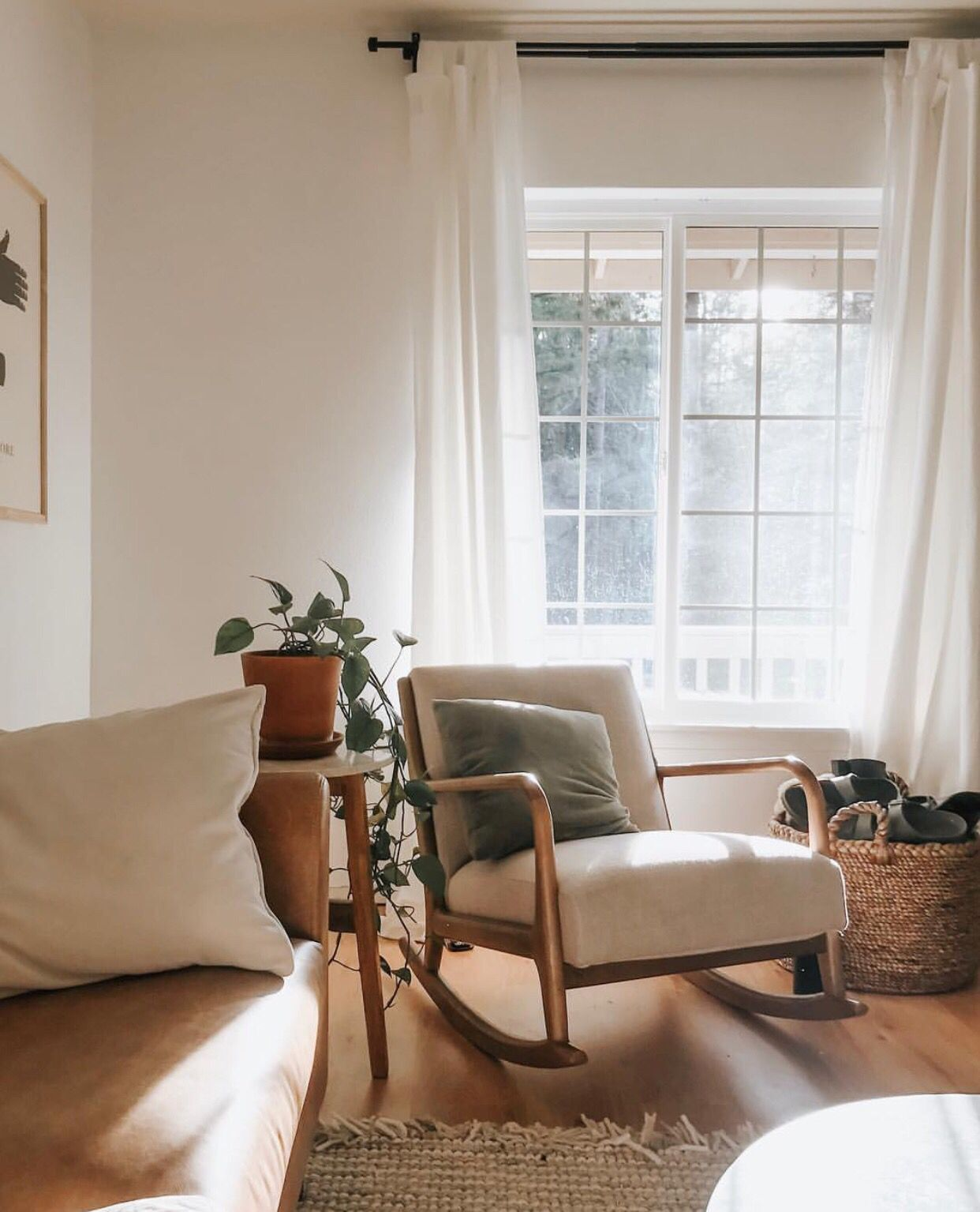 Love the rocking chair  touch of simple also     in rh pinterest