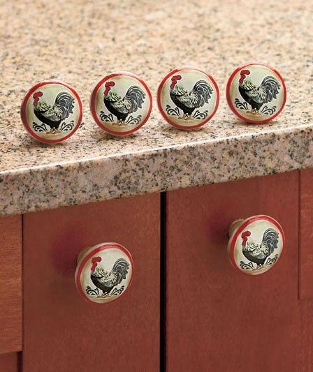 Kitchen Cabinet Knobs And Pulls Sets: Drawer Rooster Cabinet Ceramic Kitchen Knobs Pull Pulls