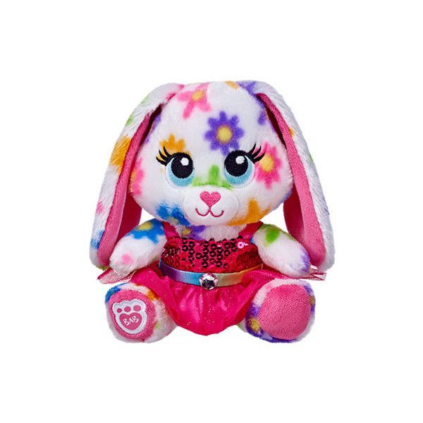 Build-A-Bear Buddies Sparkly Rainbow Daisies Bunny ($5.61) ❤ liked on Polyvore featuring toys