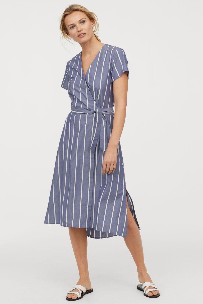 69ce9ddbf008c V-neck Wrap Dress in 2019 | Wardrobe | Dresses, Wrap dress, Neck wrap