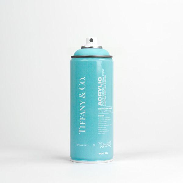 Tinta spray azul tiffany