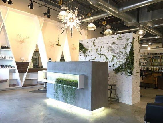 Made to Order Modern Minimalist Concrete Reception Desk   Etsy