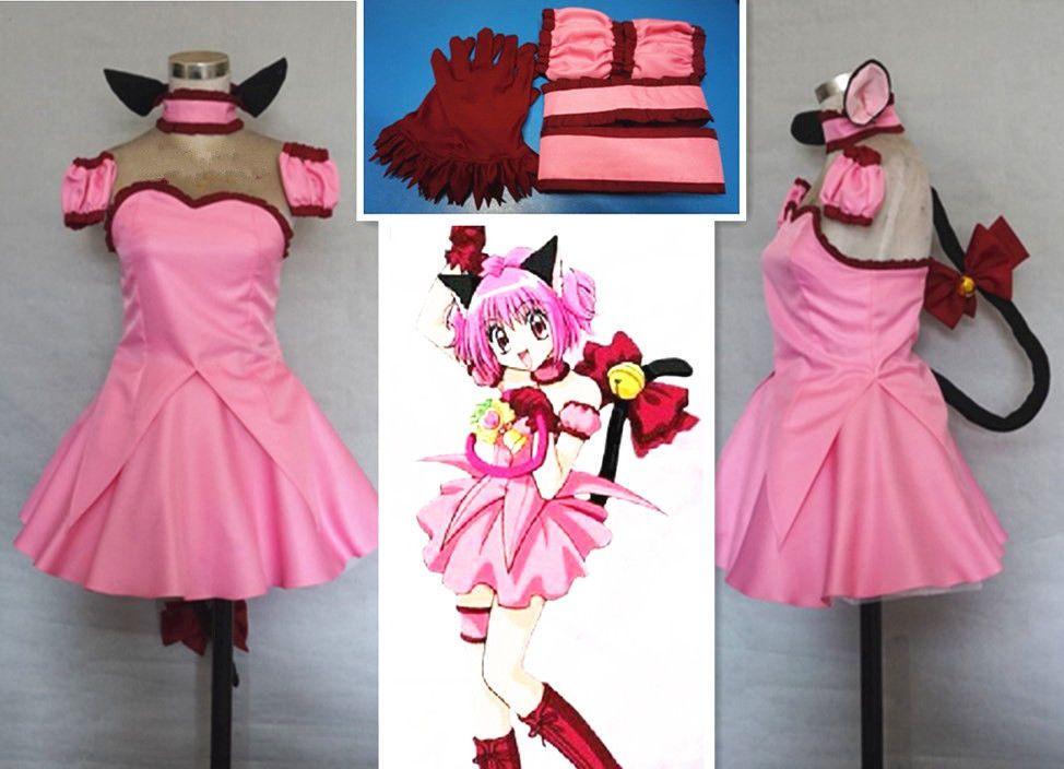 New Tokyo Mew Mew Ichigo Transfiguration Momomiya Cosplay Costume Custom Made
