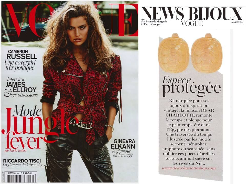 Vogue Paris Avril 2014 Bo Tortues Berenice Cameron Russell Mode Vogue