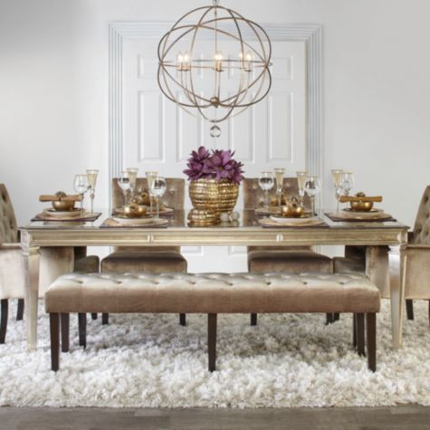 """Empire Dining Table from Z Gallerie"" $1,500"