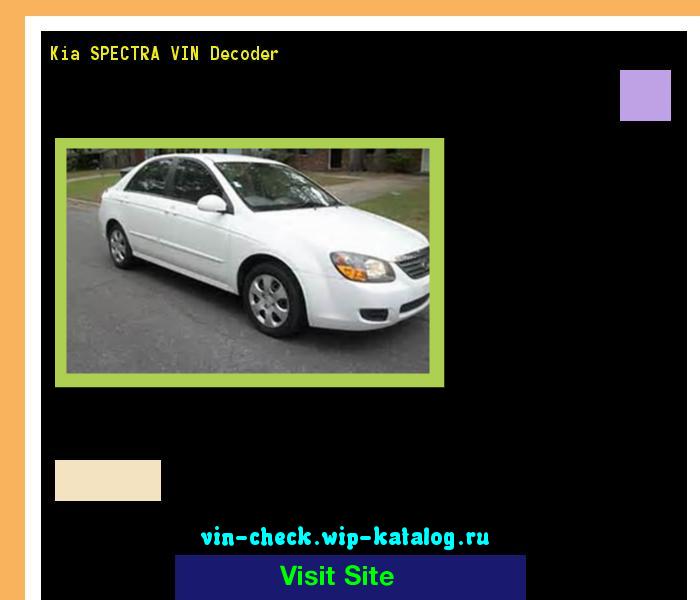 Kia Spectra Vin Decoder Lookup Kia Spectra Vin Number 161050
