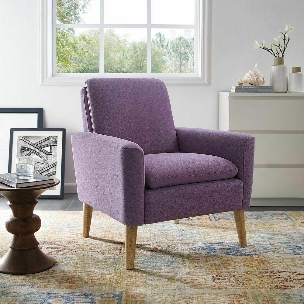 Modern Accent Arm Chair Set Of 2 Sofa Seat Leisure Living Room